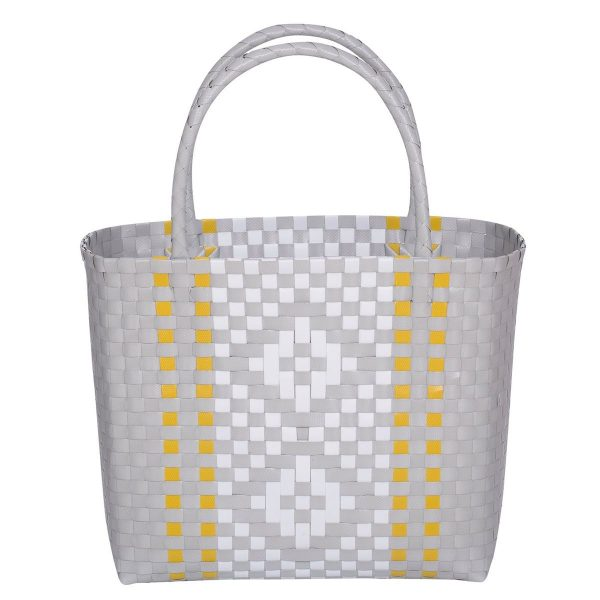 Overbeck and Friends Markttasche Shopper Calla hellgrau