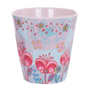Overbeck and Friends Melamin Becher Lilli-Rose2