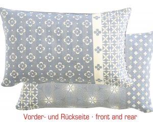 Overbeck and Friends Kissenhülle Liv grau