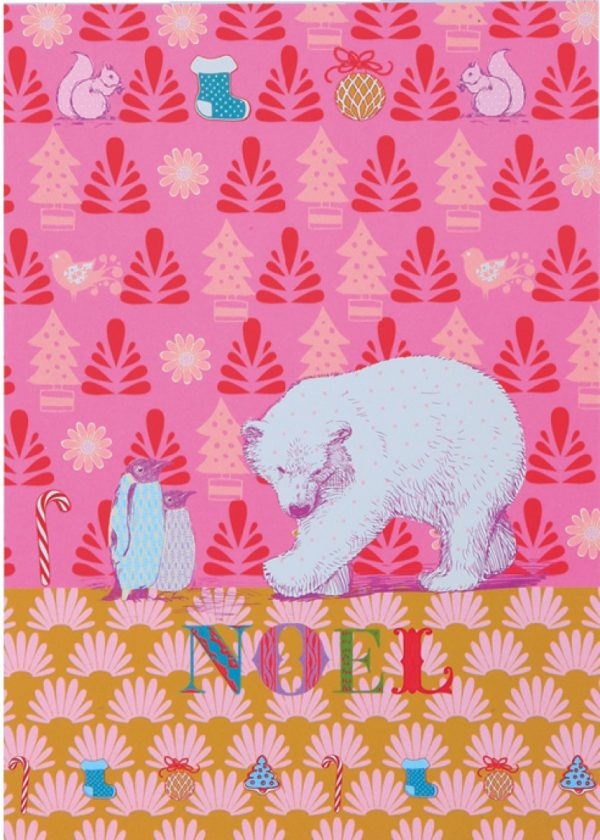 Overbeck and Friends 12er Set Weihnachtskarten – Eisbär