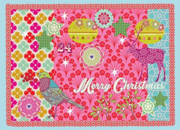 Overbeck and Friends 12er Set Weihnachtskarten – Merry Christmas