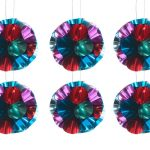 Overbeck and Friends Christbaumschmuck Ball Glitzer rot-türkis12er Set