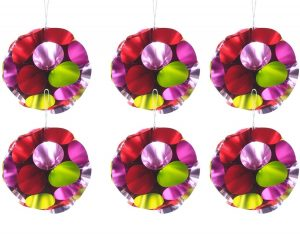 Overbeck and Friends Christbaumschmuck Ball Glitzer rot-grün 12er Set
