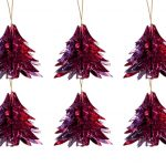 Overbeck and Friends Christbaumschmuck Baum Glitzer rot-pink 12er Set
