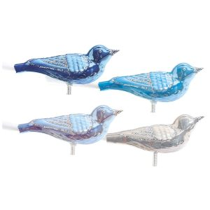 Overbeck and Friends Christbaumschmuck Vogel blau 12er Set