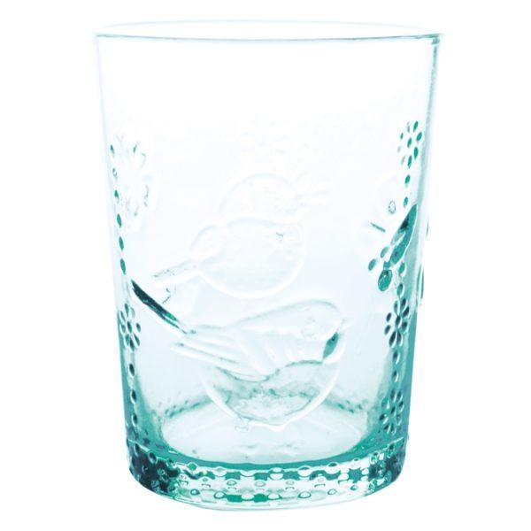 Overbeck and Friends Trinkglas Robin blau