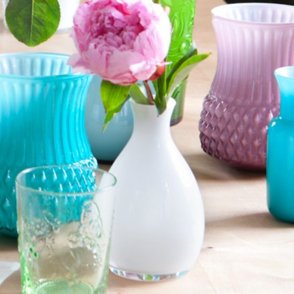 Overbeck and Friends Vase Lola opal weiß