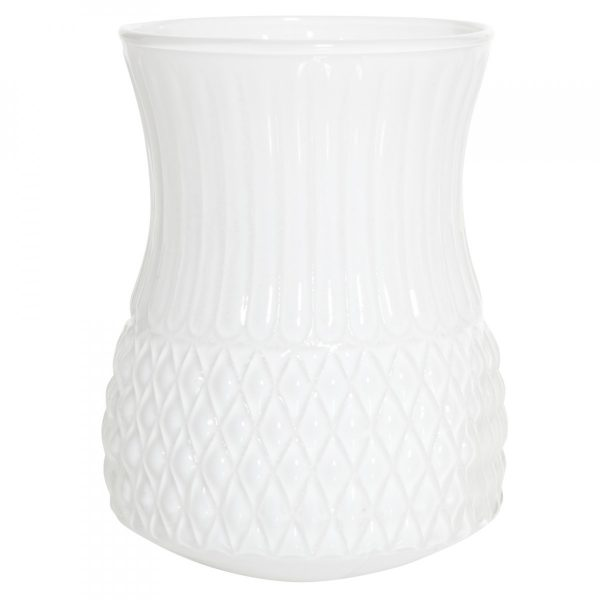 Overbeck and Friends Vase Flora opal weiß