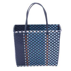 Overbeck and Friends Markttasche Fine blau groß