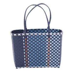 Overbeck and Friends Markttasche Fine blau klein