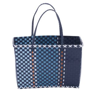 Overbeck and Friends Markttasche Fine blau medium