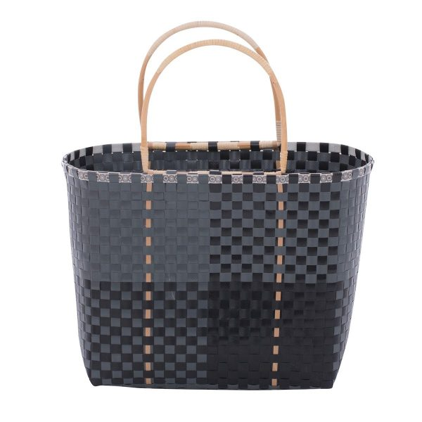 Overbeck and Friends Shopper grau-schwarz
