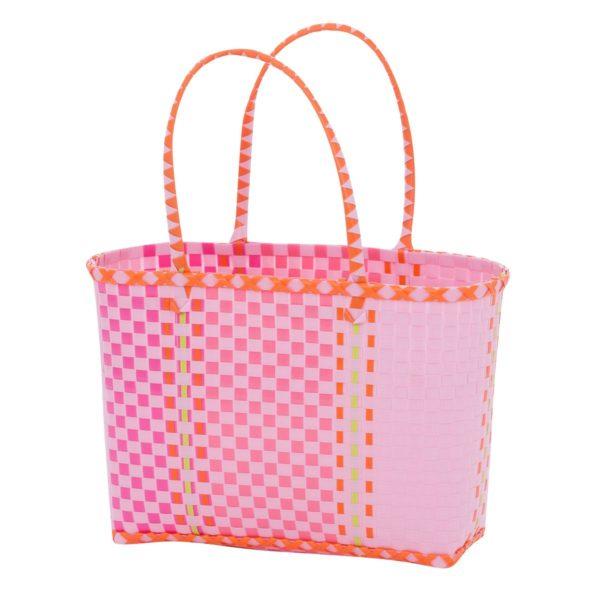 Overbeck and Friends Markttasche Fine pink klein