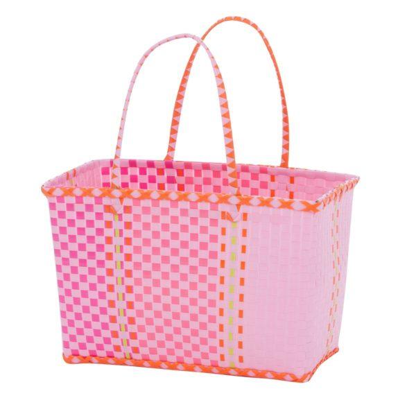 Overbeck and Friends Markttasche Fine pink medium