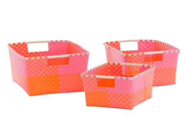 Overbeck and Friends Aufbewahrungskorb Ines pink-orange