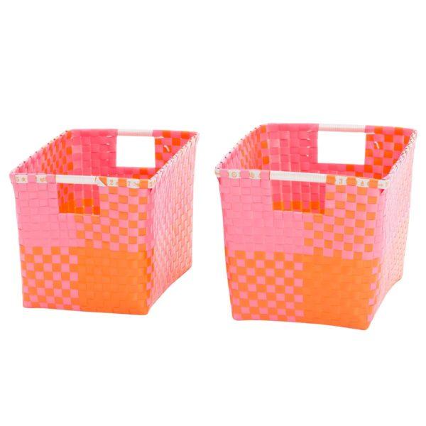 Overbeck and Friends Korb mit Henkeln Ines pink-orange