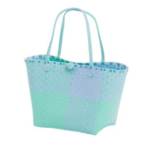 Overbeck and Friends Markttasche Ines blau-mint medium oval