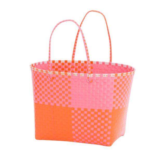Overbeck and Friends Markttasche Ines pink-orange groß