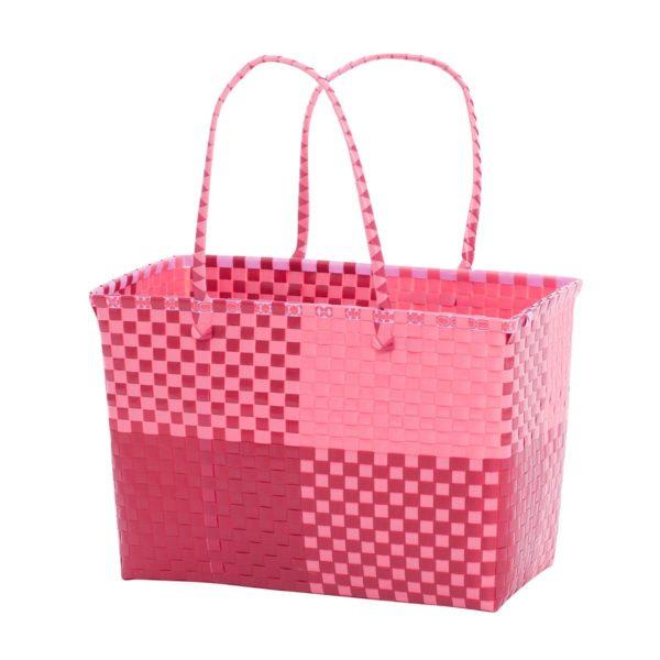 Overbeck and Friends Markttasche Ines rot-rosa medium