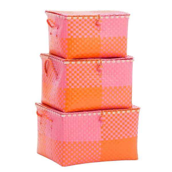 Overbeck and Friends Spielzeugkiste Ines pink-orange