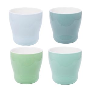 Overbeck and Friends 4er Set Becher Happy Time Mix4 blue-green