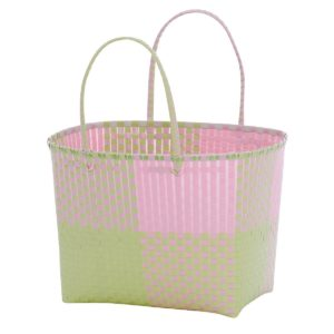 Overbeck and Friends Markttasche Ines rosa-grün groß