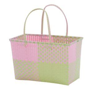 Overbeck and Friends Markttasche Ines rosa-grün medium