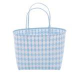 Overbeck and Friends Markttasche Jolie hellblau-weiß groß oval