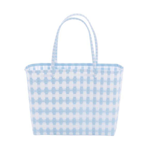 Overbeck and Friends Markttasche Jolie hellblau-weiß klein