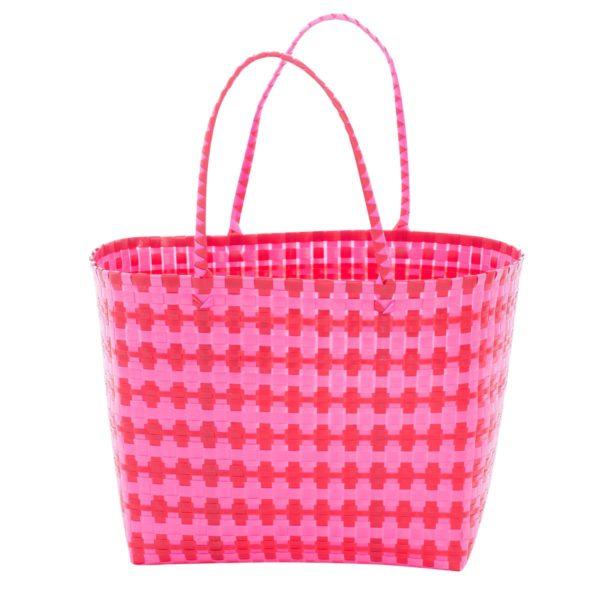 Overbeck and Friends Markttasche Jolie pink-rot groß oval