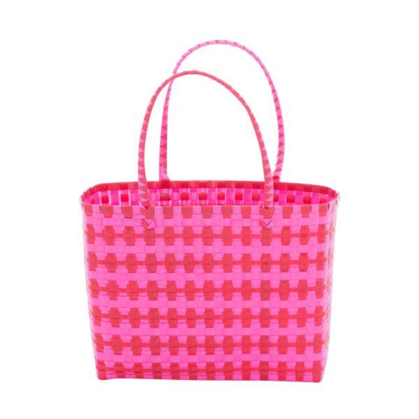 Overbeck and Friends Markttasche Jolie pink-rot klein