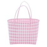 Overbeck and Friends Markttasche Jolie rose-weiß groß oval