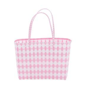 Overbeck and Friends Markttasche Jolie rosé-weiß klein