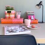 3er Set Körbchen rechteckig pink orange